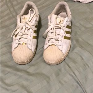Gold Adidas Superstars